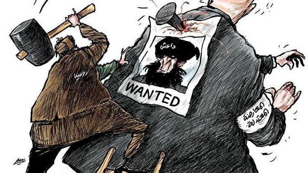 محاربة الارهاب تتطلب الانتقال من الانظمه المستبده وانظمة تقاسم السلطه بين الطوائف والقوميات الى انظمة ديمقراطيه تساوى بين جميع مواطنين البلد