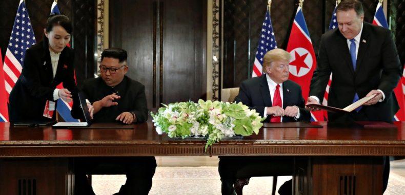 كيم يتعهد العمل على نزع السلاح النووي من شبة الجزيرة الكورية