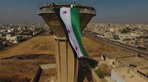الجيش يرفع العلم السوري على مدينة درعا مهد الانتفاضة ضد حكم الأسد