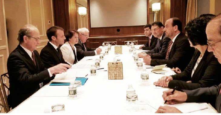 ماكرون لوفد هيئة التفاوض المعارضة من نيويورك: ندعم اتفاق «إدلب»