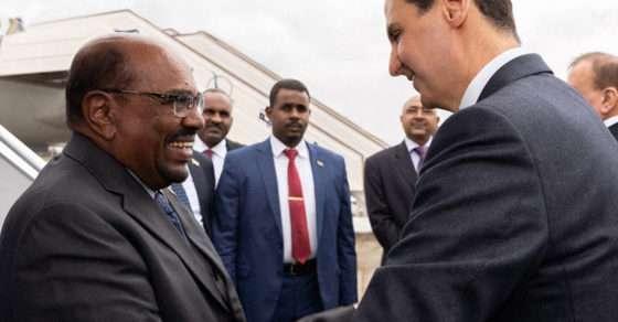 رئيس نصف السودان يزور شقيقه رئيس ثلاثة أخماس سوريا