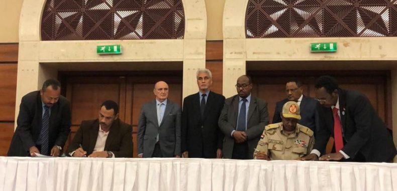 السودان .. توقيع تاريخي على الاتفاق الانتقالي