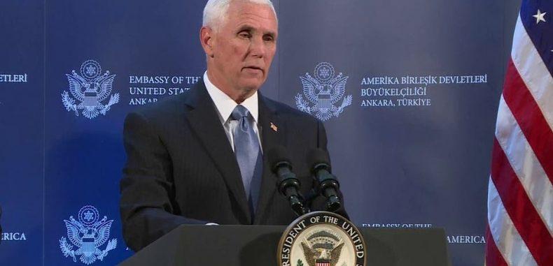 بنس: واشنطن وأنقرة اتفقتا على وقف إطلاق النار في سوريا