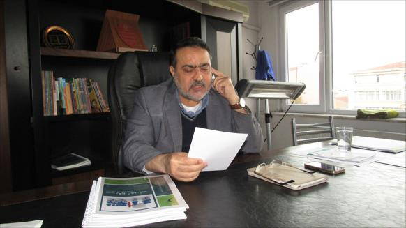 د. خضر السوطري معزيا بالرفيق منصور الأتاسي
