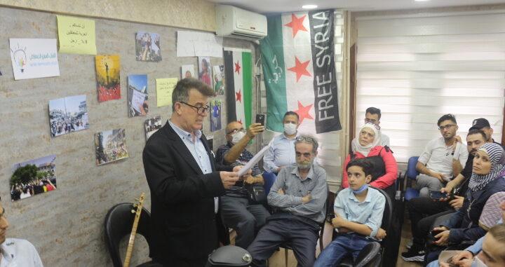 الشباب الديمقراطي في اسطنبول يتضامن مع النشاط الثوري في السويداء