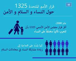 دور المرأة فى السلام و الأمن – قرار مجلس الأمن رقم 1325 :